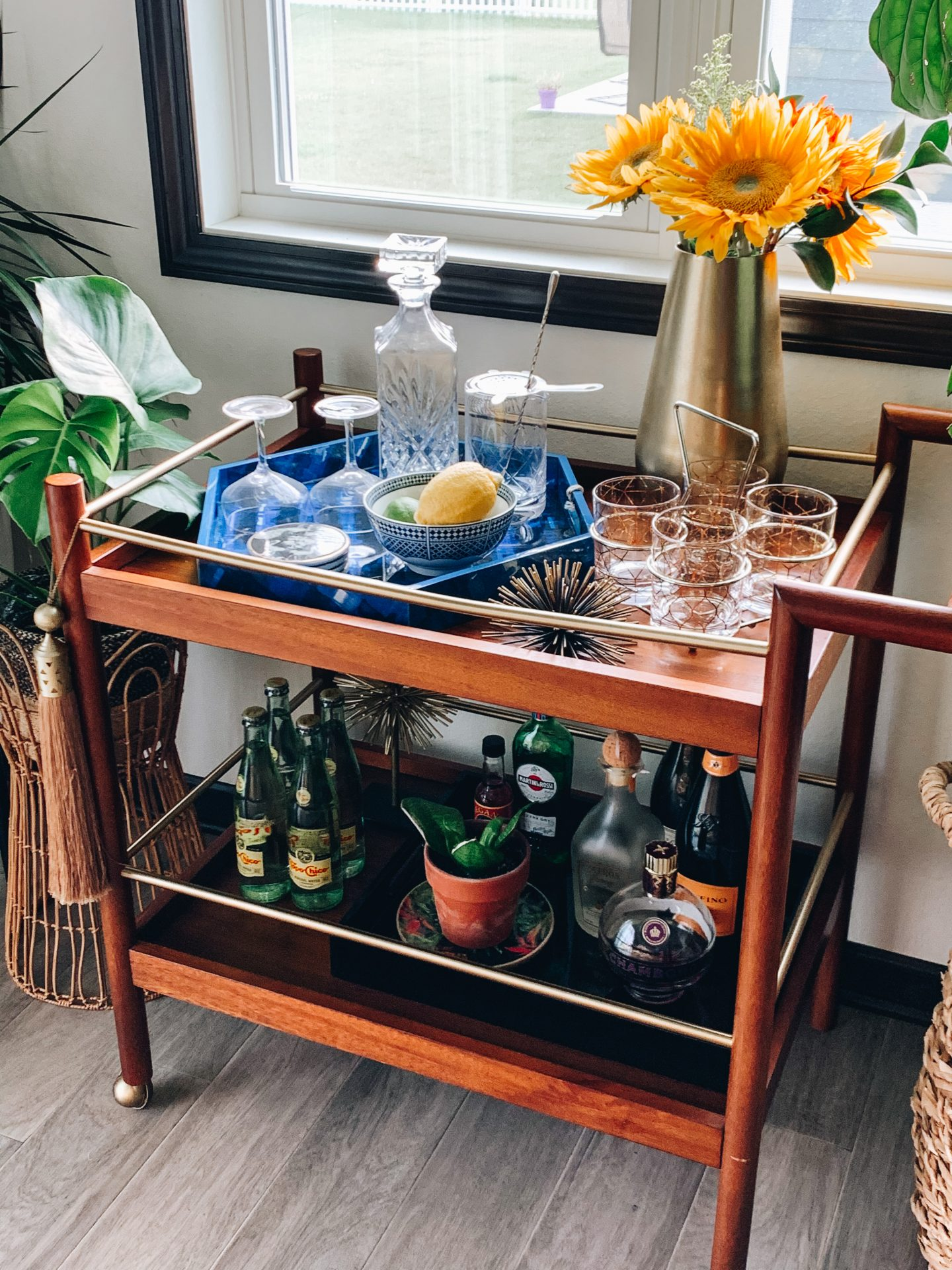 Styling A Bar Cart Summer Edition Everyday Emily Kay